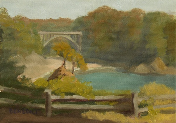 "Russian Gulch ©2011 Stephanie Benedict. Oil on board, 6"" x 8"""