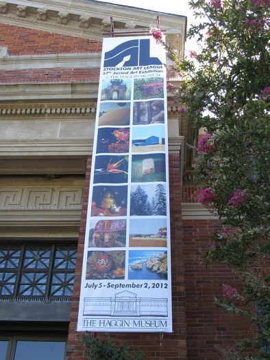 Banner at Stockton Art League show at Haggin Museum