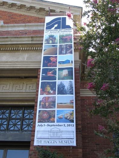 Banner at Stockton Art League show at Haggin Museum