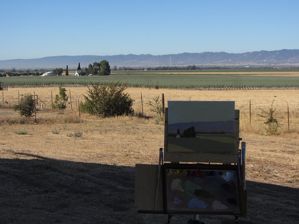 Painting setup in Yolo County