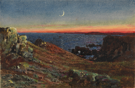 An Essay at Twilight by William Trost Richards at PAFA