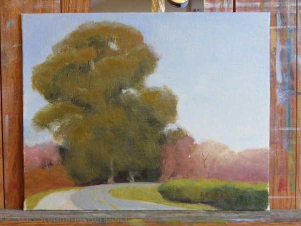 On the easel:  Delta Eucalyptus, ©2013 Stephanie Benedict