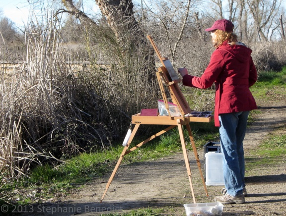 Linda Merchant en plein air at Colusa NWR