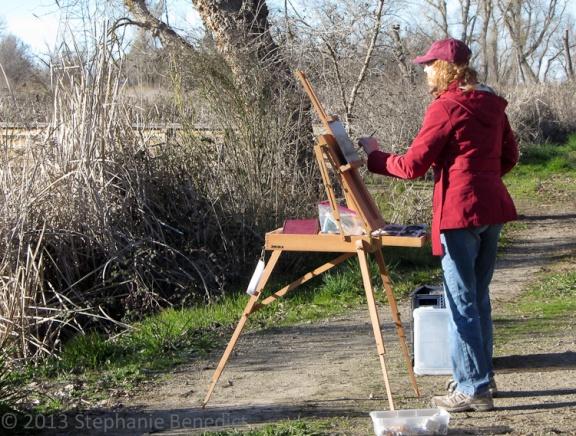 Linda Merchant en plein air at Colusa NWR