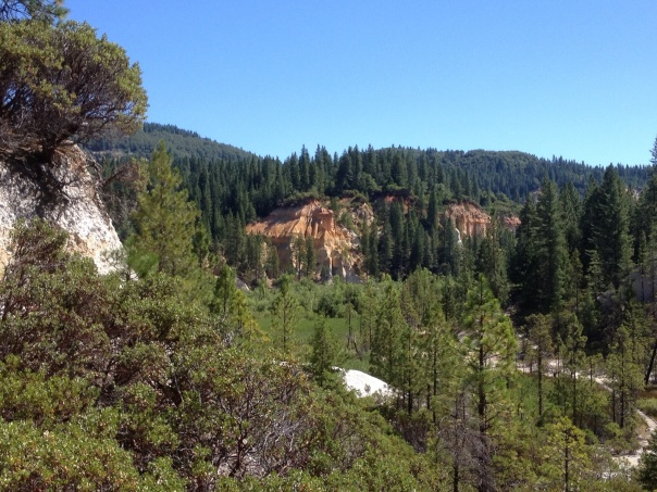 "A view of the ""diggin's"" at Malakoff Diggins SHP."