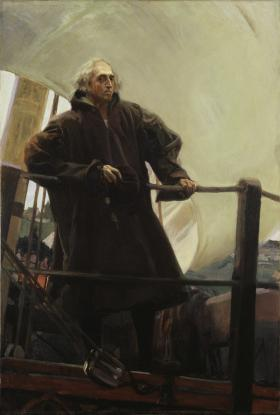 Sorolla's portrait of Christopher Columbus